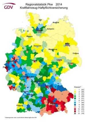 Haftpflicht Regionalstatistik Pkw