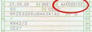 Typschluesselnummer ab 2005